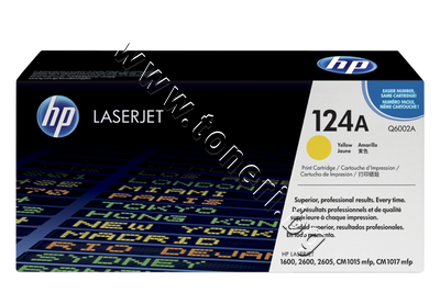 Q6002A Тонер HP 124A за 1600/2600, Yellow (2K)