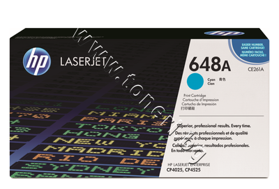 CE261A Тонер HP 648A за CP4025/CP4525, Cyan (11K)