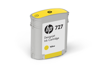 Оригинални мастила и глави за широкоформатни принтери » Мастило HP 727, Yellow (40 ml)