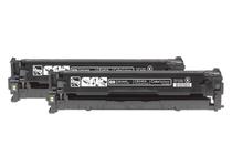 Оригинални тонер касети и тонери за цветни лазерни принтери » Тонер HP 125A за CP1215/CM1312 2-pack, Black (2x2.2K)
