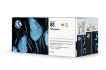 Оригинални мастила и глави за широкоформатни принтери » Комплект HP 81, Yellow (680 ml)