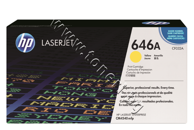CF032A Тонер HP 646A за CM4540, Yellow (12.5K)