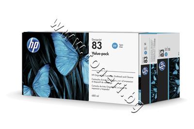 C5001A Комплект HP 83, Cyan (680 ml)