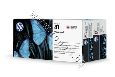 C4995A Комплект HP 81, Light Magenta (680 ml)