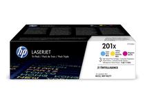 Оригинални тонер касети и тонери за цветни лазерни принтери » Тонер HP 201X за M252/M274/M277 3-pack, 3 цвята (3x2.3K)