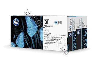 C4994A Комплект HP 81, Light Cyan (680 ml)