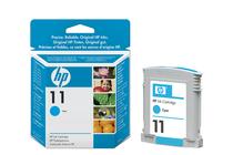 Оригинални мастила и глави за широкоформатни принтери » Мастило HP 11, Cyan (28 ml)