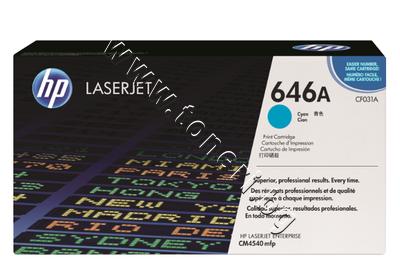 CF031A Тонер HP 646A за CM4540, Cyan (12.5K)